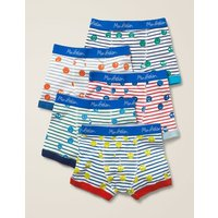 5 Pack Boxers Blue Boys Boden, Blue