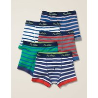 5 Pack Boxers Multi Boys Boden, Multicouloured