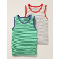 2 Pack Vests Grey Boys Boden, Grey