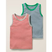 2 Pack Vests Red Boys Boden, Beige