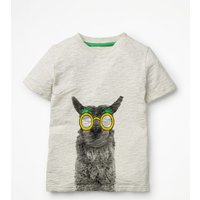 Animal Graphic T-shirt Natural Boys Boden, Beige