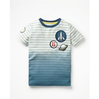 Dip Dye Space T-shirt Blue Boys Boden, Blue