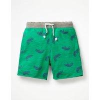 Slub Jersey Shorts Green Boys Boden, Green