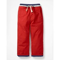 Lined Mariner Trousers Red Boys Boden, Red