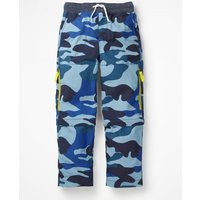 Zip-off Techno Trousers Blue Boys Boden, Blue