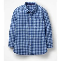 Garment-dyed Laundered Shirt Blue Boys Boden, Blue