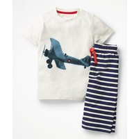 Graphic Pyjamas Ivory Boys Boden, Beige