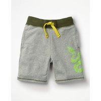 Graphic Sweatshorts Grey Boys Boden, Grey