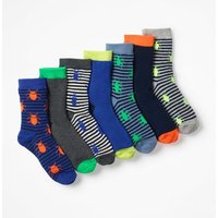 7 Pack Sock Box Multi Boys Boden, Multi