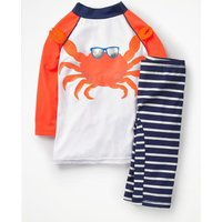 Surf Suit White Boys Boden, Orange