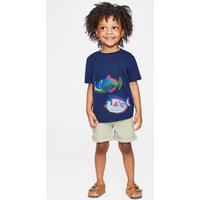 Animal Appliqué T-shirt Blue Girls Boden, Blue