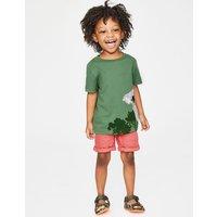 Animal Appliqué T-shirt Green Boys Boden, Green