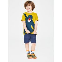 Animal Appliqué T-shirt Yellow Boys Boden, Yellow