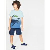 Animal Dip-dye T-shirt Blue Boys Boden, Blue