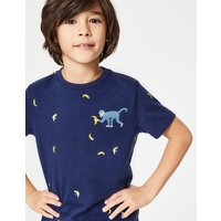 Embroidered Creature T-shirt Multi Boys Boden, Blue