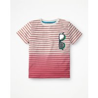 Dip-dye Graphic T-shirt Pink Boys Boden, Red