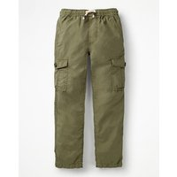 Lightweight Cargo Trousers Green Boys Boden, Green