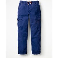 Lightweight Cargo Trousers Blue Boys Boden, Blue