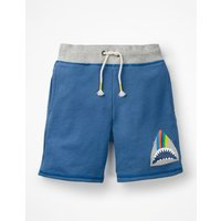Animal Sweatshorts Blue Boys Boden, Blue