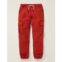 Lined Utility Cargo Trousers Red Boys Boden, Red