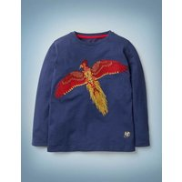 Fawkes Superstitch T-shirt Blue Girls Boden, Blue