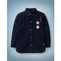 Harry Pocket Cord Shirt Blue Boys Boden, Blue