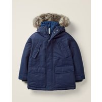 Waterproof Parka Blue Boys Boden, Blue