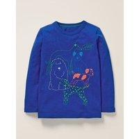 Superstitch Animal T-shirt Blue Boys Boden, Blue