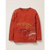 Superstitch Animal T-shirt Brown Boys Boden, Brown