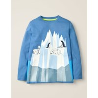 Glacial Animal T-shirt Blue Boys Boden, Multicouloured