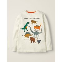 Glacial Animal T-shirt Ivory Boys Boden, Multicouloured