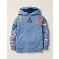Fantastic Cosy Hoodie Light Blue Marl Boys Boden, Blue