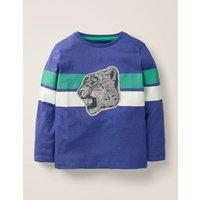 Wild Appliqué T-shirt Blue Boys Boden, Blue