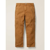 Relaxed Carpenter Trousers Brown Boys Boden, Brown