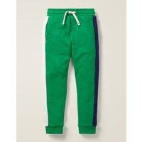 Cosy Lined Joggers Green Boys Boden, Green