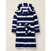 Dressing Gown Navy Boys Boden, Blue