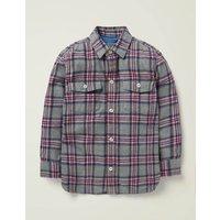 Brushed Check Shirt Grey Boys Boden, Black