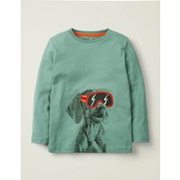 Photographic T-shirt Green Boys Boden, Green