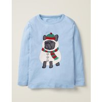Festive Dress-up T-shirt Blue Boys Boden, Blue