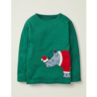 Festive Dress-up T-shirt Green Boys Boden, Green