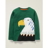 Bright Animal T-shirt Green Boys Boden, Green