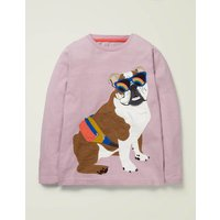British Animal T-shirt Purple Boys Boden, Purple