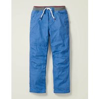 Cosy Lined Mariner Trousers Blue Boys Boden, Blue