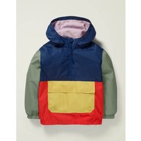 Waterproof Pack-away Jacket Blue Boys Boden, Navy
