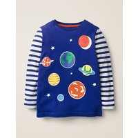 Glow-in-the-dark Space T-shirt Blue Boys Boden, Blue