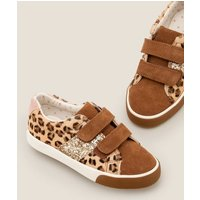 Fun Low Tops Brown Girls Boden, Leopard