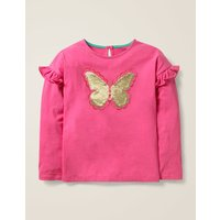 Colour-change Sequin T-shirt Pink Girls Boden, Pink