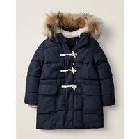 Longline Padded Jacket Navy Girls Boden, Navy