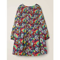 Printed Smock Dress Multi Girls Boden, Multicouloured