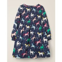 Printed Smock Dress Navy Girls Boden, Blue